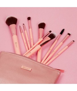 BH Pretty in Pink - 10 Piece Brush Set with Cosmetic Bag